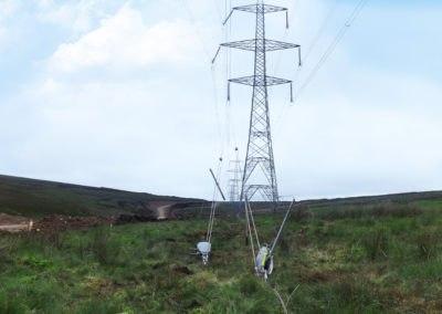 Parc éolien de Fallago – Ancrage des pataras