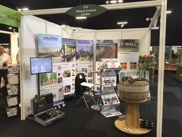Landscape Show has arrived. Platipus are here at Stand D19